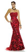 Envi Prom Gown E1023 In Stock Size 8 Red Black