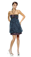 Envi Prom Gown E1077 In Stock Size 6 Blue Multi Short Length