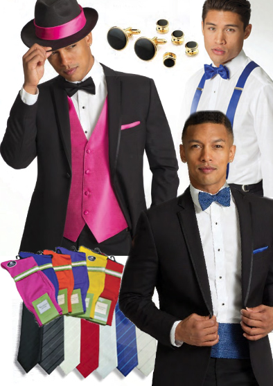 Tuxedo Accessories with Tux Rentals