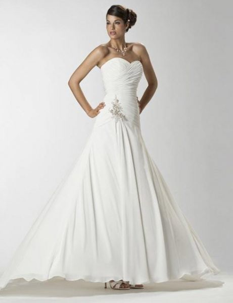 House Of Wu Bridal Gown 11046 In Stock Size 14 White Silver