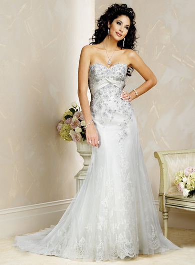 Maggie Sottero Mystic A3159 In Stock Size 10 Ivory Pewter